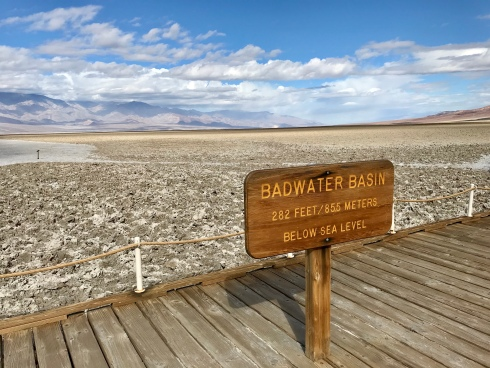 The lowest point in North America--Badwater Basin, Death Valley!
