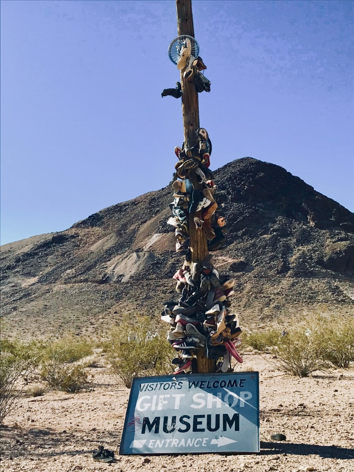 Death Valley shoe pole