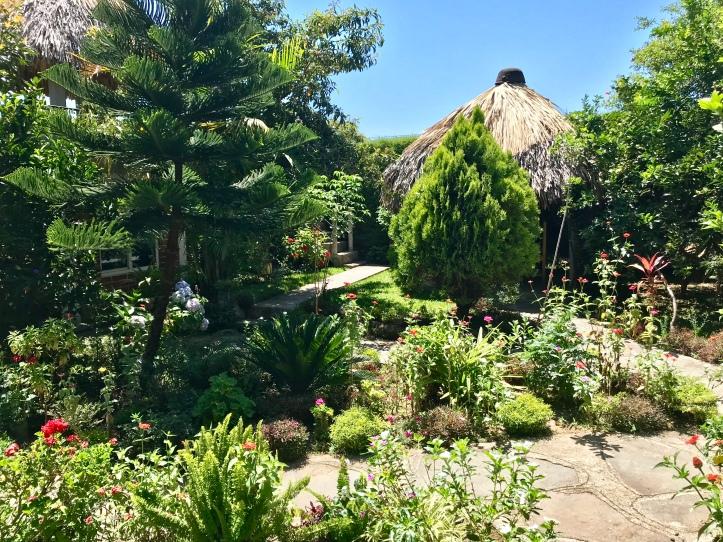 Classroom gardens at Cooperativa Spanish School in San Pedro La Laguna, Guatemala