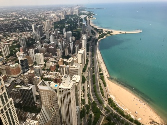 We loved the views from the 96th floor of the John Hancock building in Chicago!