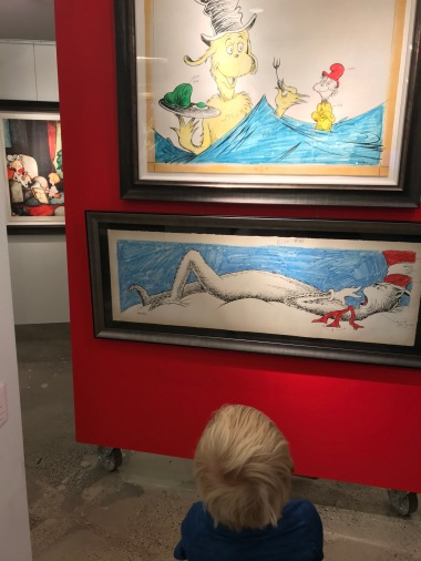 The Entertainer and Bird Nerd loved the Dr. Seuss art gallery in Chicago. Bird Nerd was a bit disappointed they didn't have any Jojo art, since he just finished playing Jojo in Seussical the Musical right before we left Idaho.
