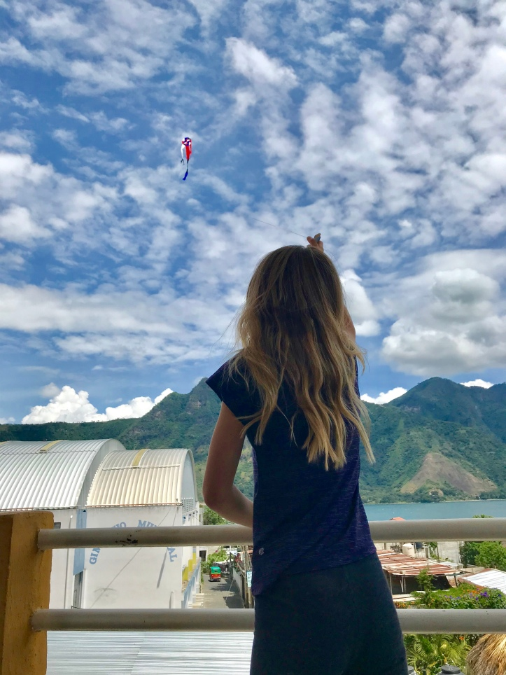 Kite-flying in San Pedro La Laguna, Guatemala