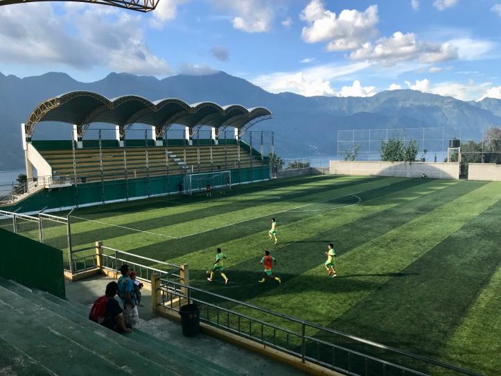 Futbol stadium in San Pedro La Laguna, Guatemala