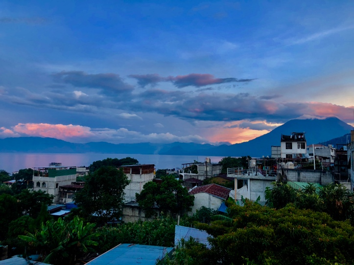 Sunset over Lake Atitlan, Guatemala