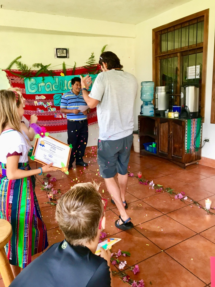 Graduation from Cooperativa Spanish School in San Pedro La Laguna, Guatemala