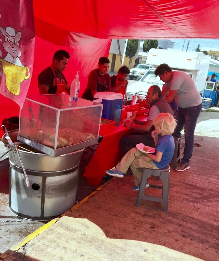 Street tacos in Puebla, Mexico