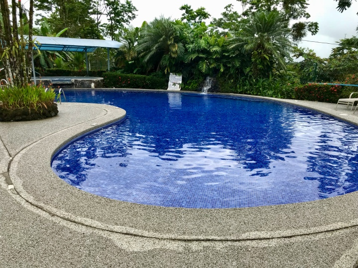 The pool area is beautiful at Hotel Villas Vilma.