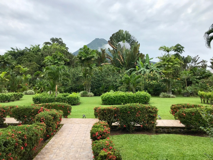View of Arenal Volcano from Hotel Villas Vilma