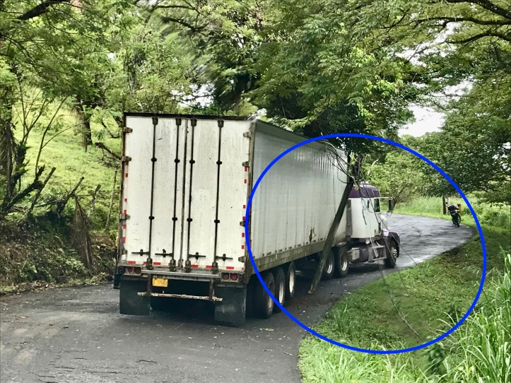 Roadblock near Lake Arenal