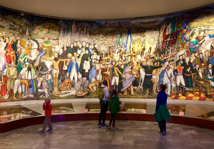 Mexican history mural in Chapultepec Castle, Mexico City