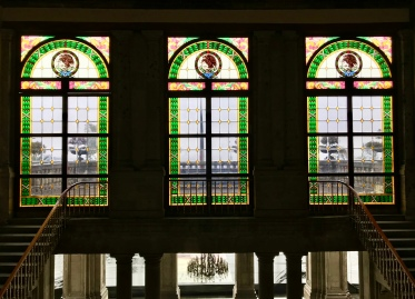 I'd love to know more of the history behind these stained glass windows. You can bet they weren't installed when the Spanish constructed Chapultepec Castle.