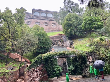 We didn't get many pictures from the outside of Chapultepec Castle, because, well, it was raining and freezing. John did manage to get this one pretty terrible shot.