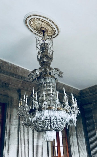 I was kind of obsessed with these chandeliers at Chapultepec Castle, as evidenced by the number of photos I have of them.